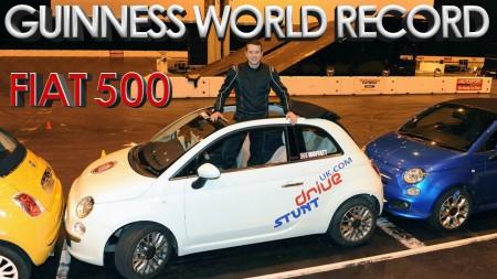Fiat 500 - Record du monde Parking